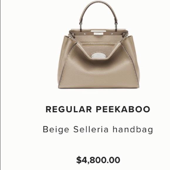 bb20b010e4 Fendi Peekaboo Beige Selleria handbag